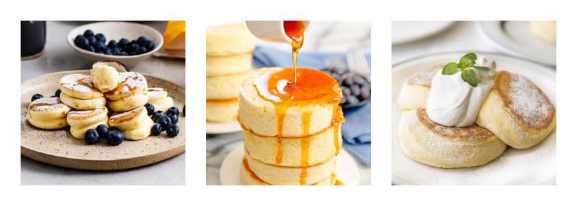 Souffle cold milk pancakes