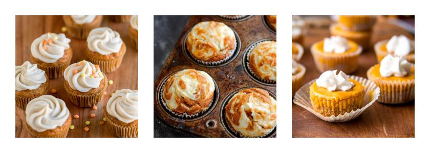 Mini Cupcakes Pumpkin Pie Cheese